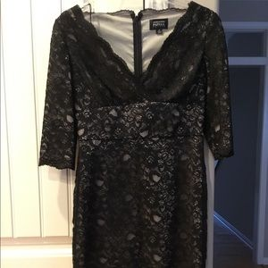 Adrianna Papell Black Lace Dress 6P Nordstrom
